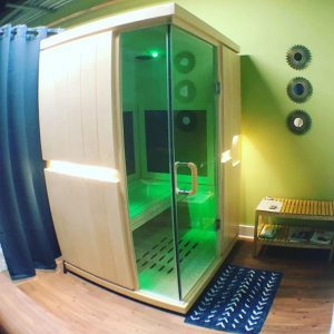 Infrared sauna at Spine & Strength clinic